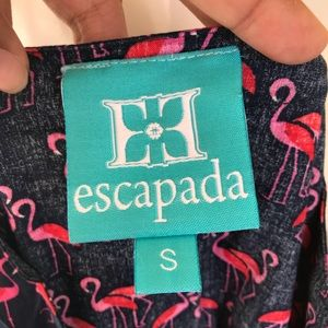 9a11afbf404 Escapada Dresses - Escapada Navy Flamingo Print dress size Small
